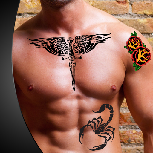 Tattoo Photo Montage (Scorpion Symbol)