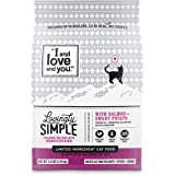 """""""I and love and you"""" Lovingly Simple Dry Cat Food - Grain Free Limited Ingredient Kibble, Salmon + Sweet Potato, 3.4-Pound Bag"""