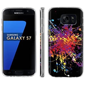Samsung Galaxy [S7] Phone Case [ArmorXtreme] [Clear] Designer Image [Flexi Gel TPU] - [Color Splash] for Samsung Galaxy S7 / GS7
