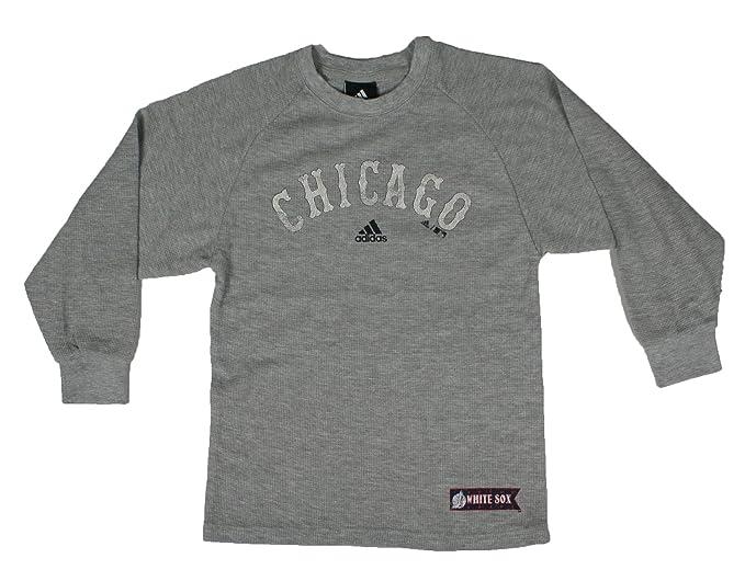adidas MLB Juventud Chicago White Sox Manga Larga Manga Larga térmica Gris -