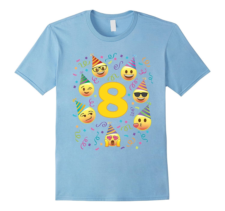 Emoji Birthday Shirt For 8 Eight Year Old