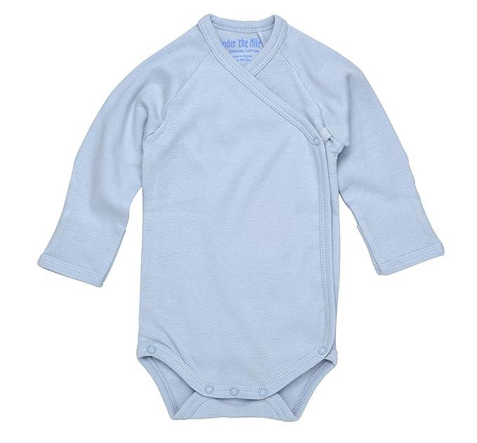 0af5aa36c5 Amazon.com  Under the Nile Boys Boys  Organic Long Sleeve Bodysuit ...