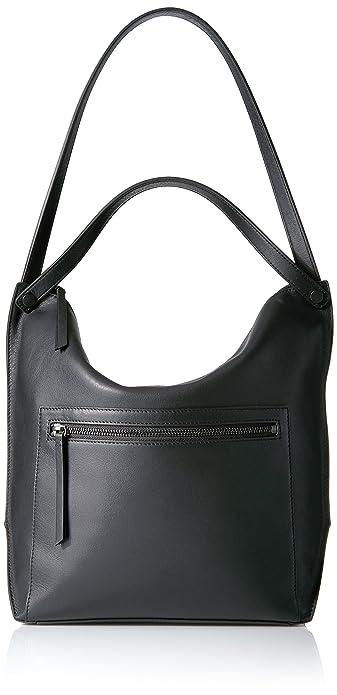 adc97934353 Ecco Women's Sculptured Hobo Bag Shoulder Handbag, Black, 12 x 33 x 40 cm