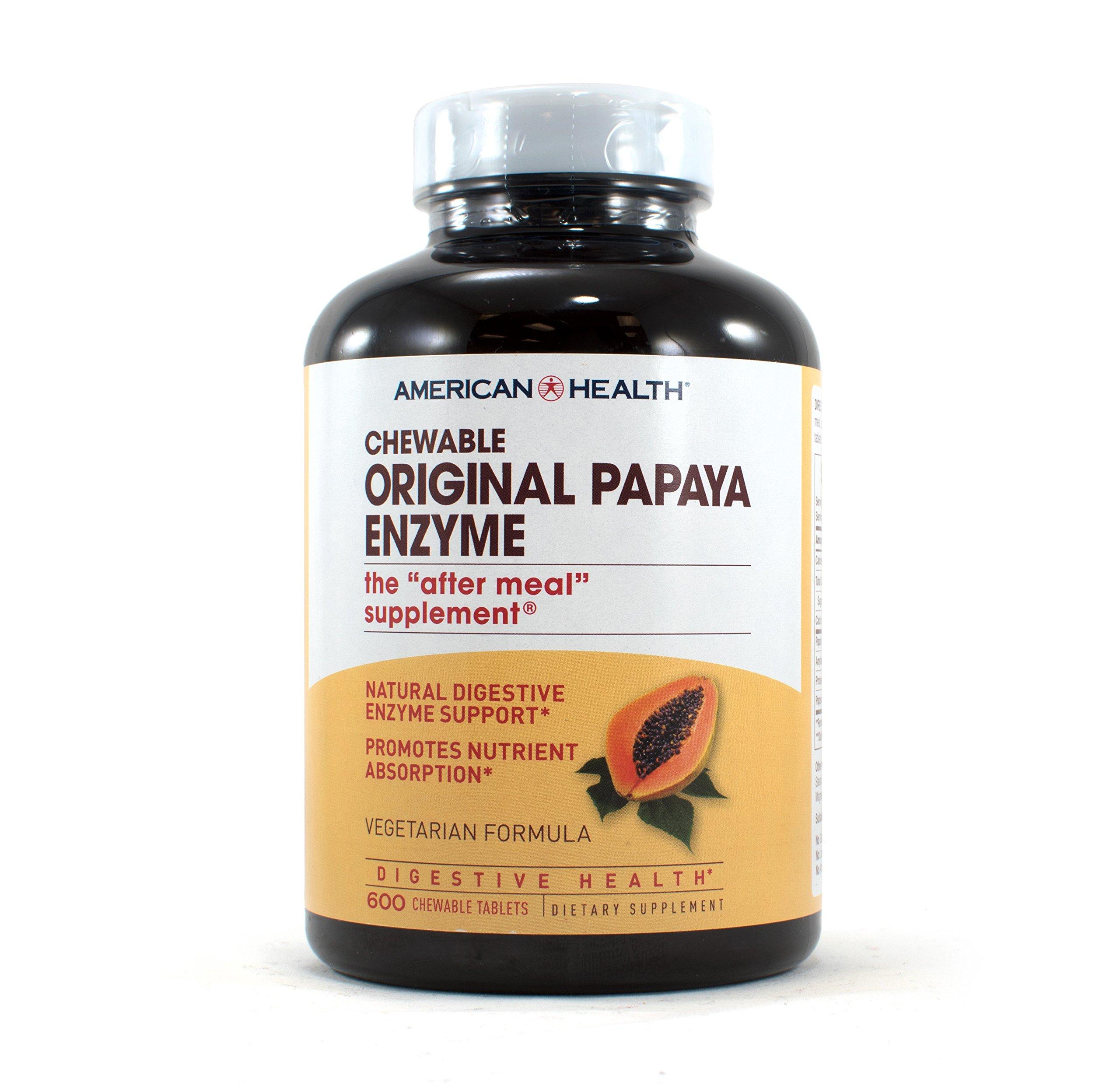 American Health Original Papaya Enzyme, 600 Count