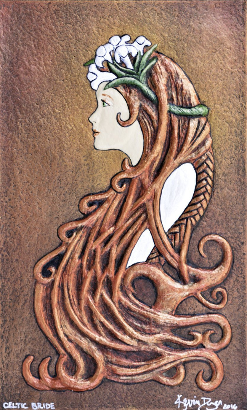 2fd217f61673 Amazon.com  Celtic Bride - Cast Paper - Celtic Art - Scottish Bride - Irish  Bride - red haired bride- wedding gift - bridal shower  Handmade