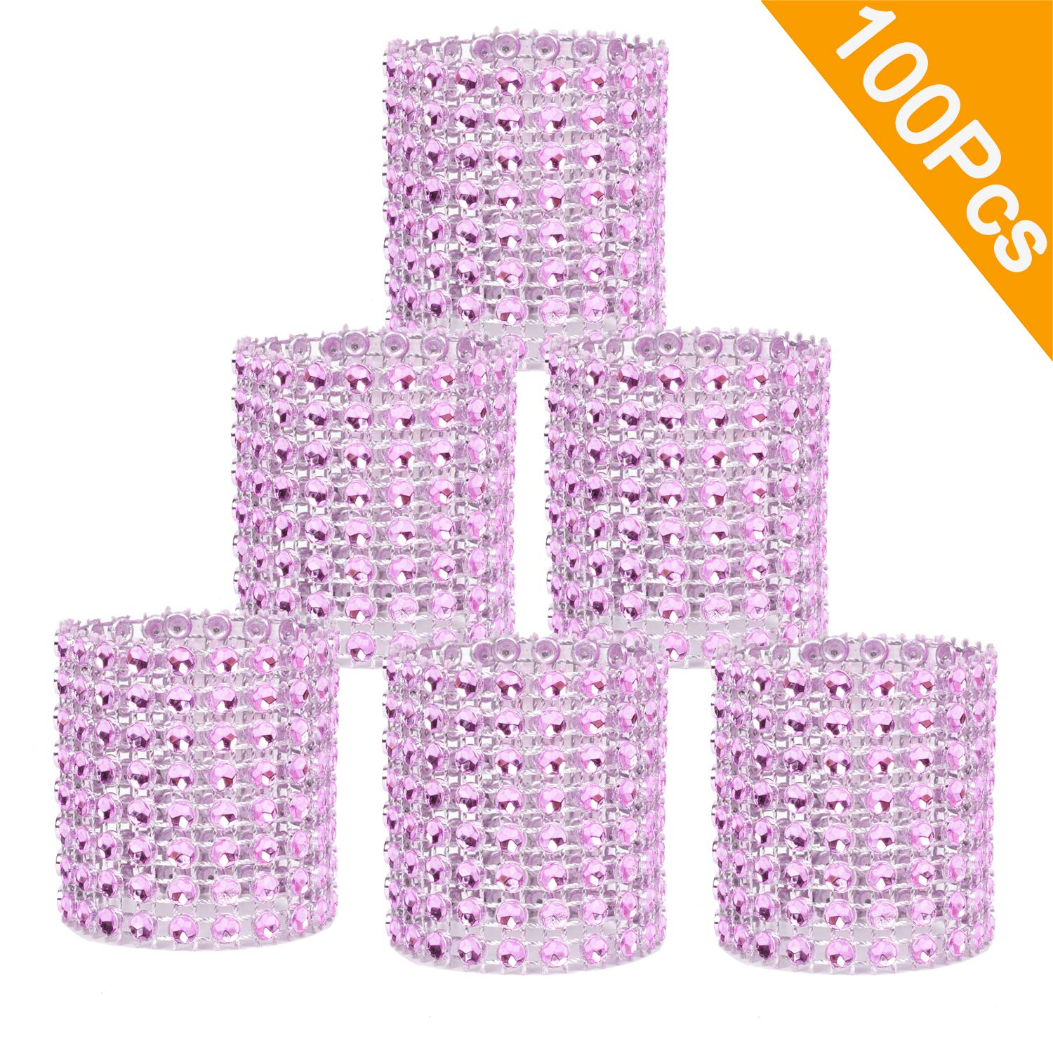 DIY Decoration,Set of 50 Gold Napkin Rings Buckles Rhinestone Napkin Rings for Table Decorations Dinner,Party DearHouse Napkin Rings Wedding