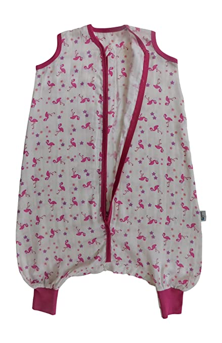 Slumbersac Saco de dormir de verano con pies 0.5 Tog - Bamboo Muslin Flamingo - 3