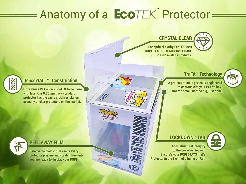 STRONG 20 PACK of EcoTEK Pop Protectors 4 Inch Pop Crystal Clear Pop Protector Case for Funko Vinyl Figures Heavy Duty Acid Free w// Protective Film EcoTEK Protectors