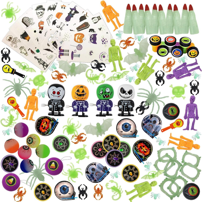 140 Pcs Halloween Toys Assortment for Halloween Party Favors, School Classroom Rewards, Trick or Treat, Halloween Miniatures, Halloween Prizes for Kids