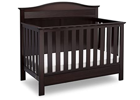 Serta Barrett 4-in-1 Convertible Baby Crib, Dark Chocolate