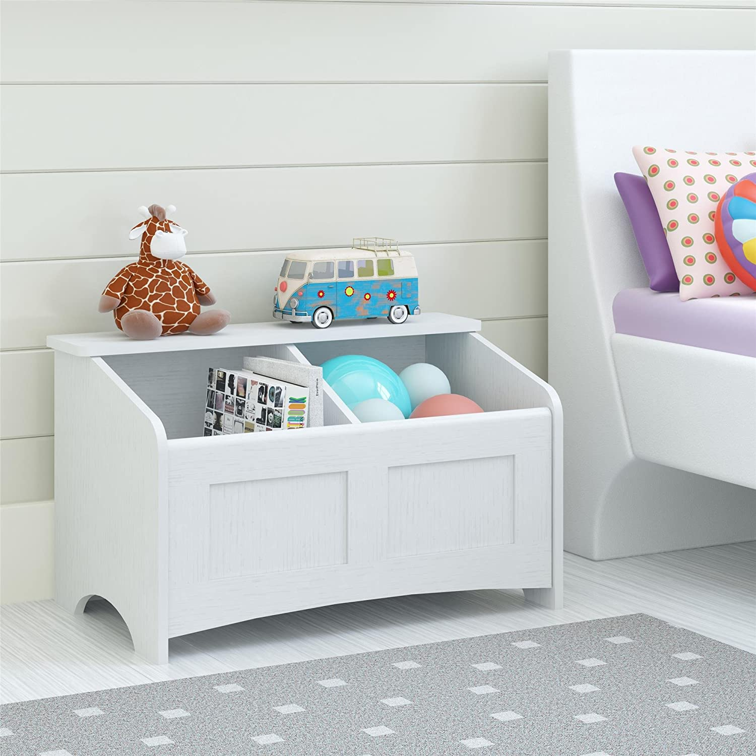 Amazon.com: Ameriwood Home Cassidy Toy Chest, Federal White: Kitchen ...