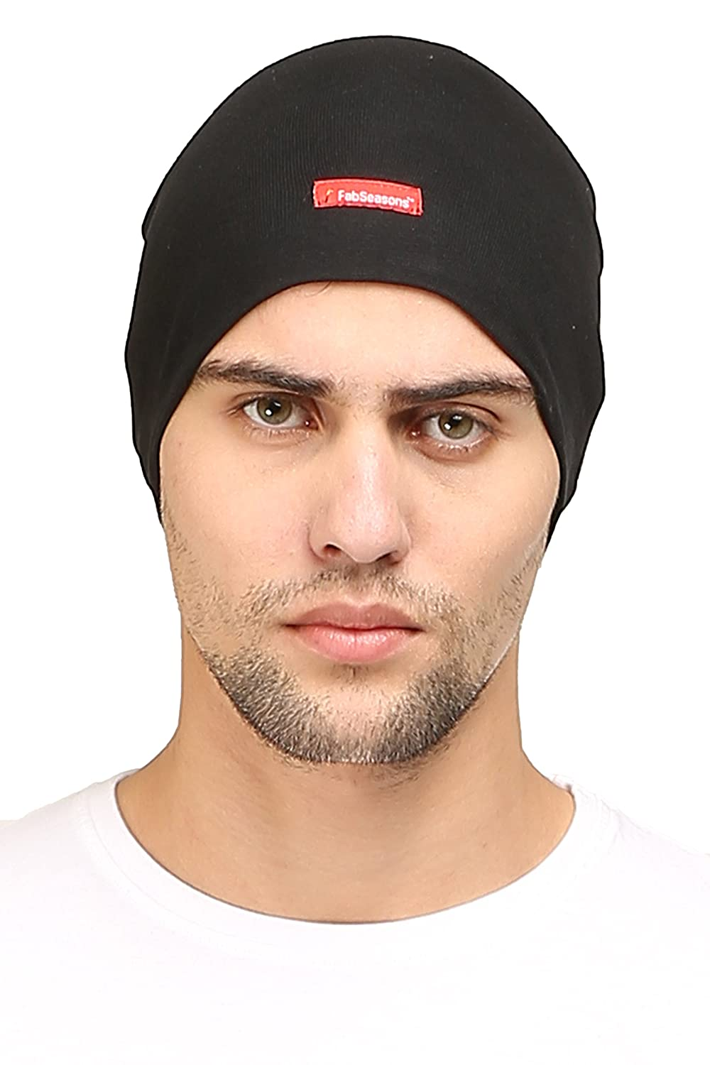 b8762ff46f6 Buy FabSeasons Cotton Skull Cap (Black) Online at Low Prices in India -  Amazon.in