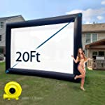 TKLoop 20Ft Mega Inflatable Movie Screen Without Seam - Blow up