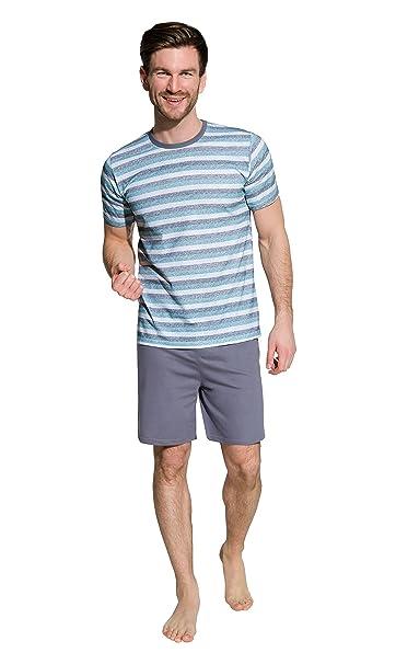 TARO Pijamas Clásico de Algodón para Hombres Manga Corta/Pantalones Cortos S, M,