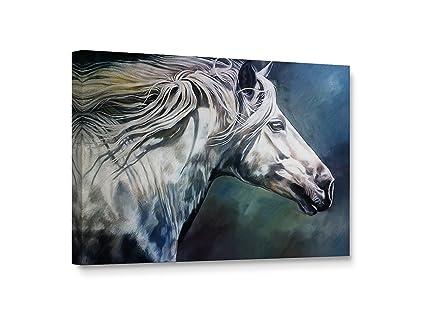 ca0788283dc Amazon.com  Niwo Art TM - White Horse Painting