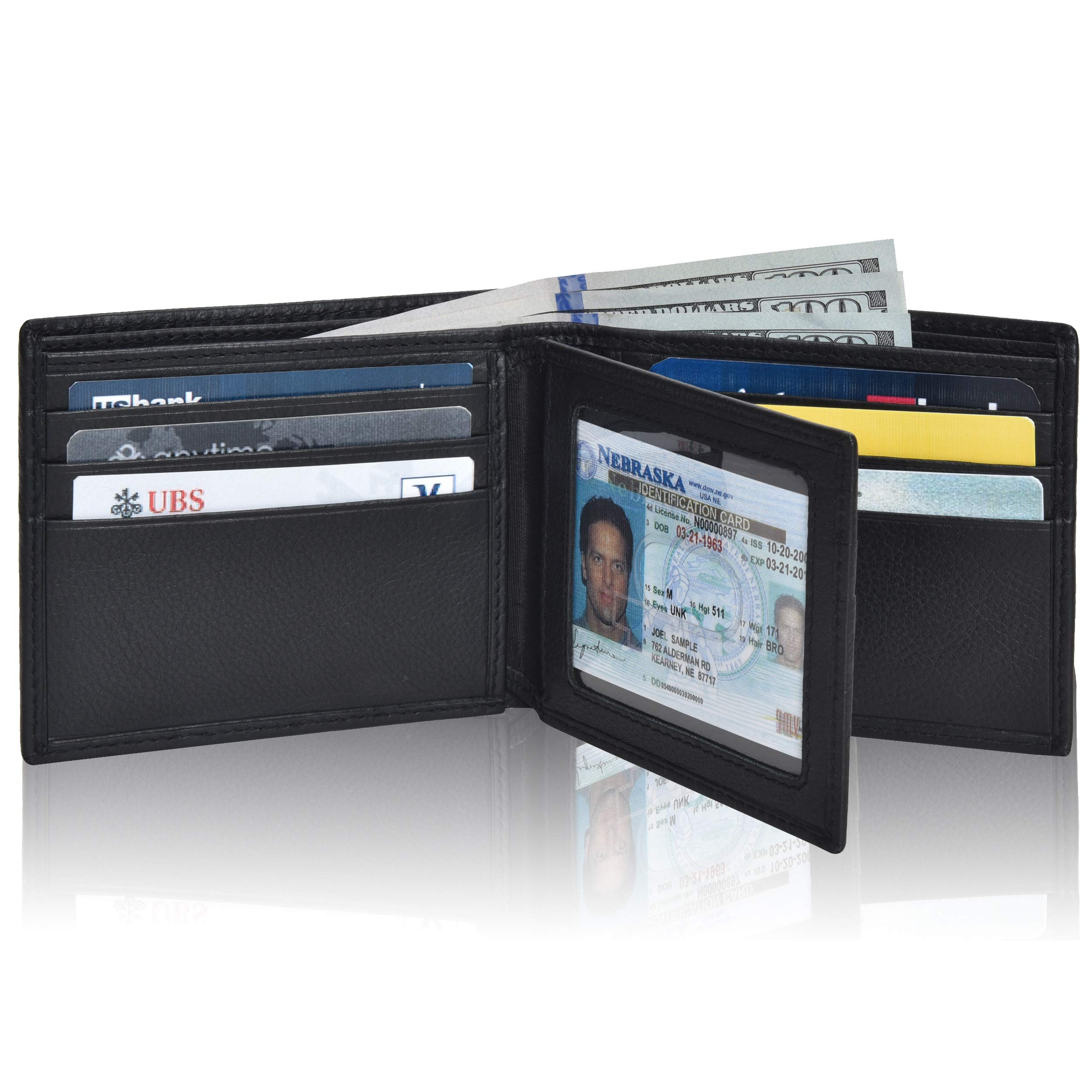 Clifton Heritage Ultimate Slim Mini Wallet Front Pocket Minimalist Wallet Bifold Genuine Leather RFID by Clifton Heritage