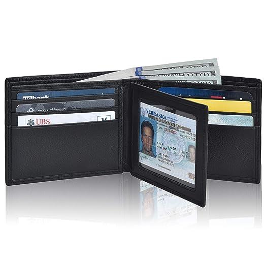 8c1125361bb4 Clifton Heritage Men's Leather RFID Blocking Bifold Wallet