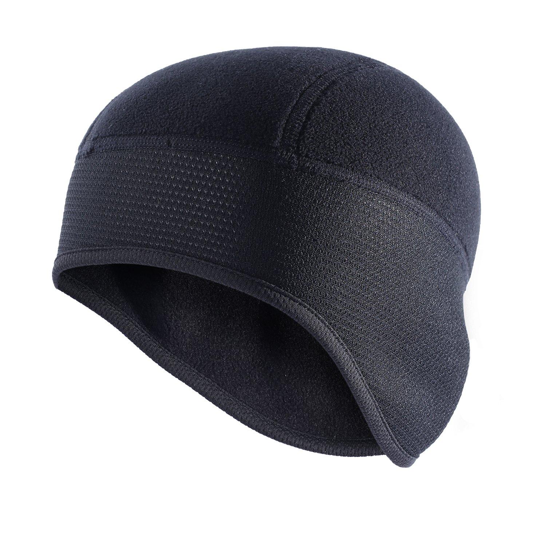 Qinglonglin Mütze mit Totenkopf-Motiv, perfekt für Winter, Outdoor-Sport, Ohrenschützer und Feuchtigkeitstransport