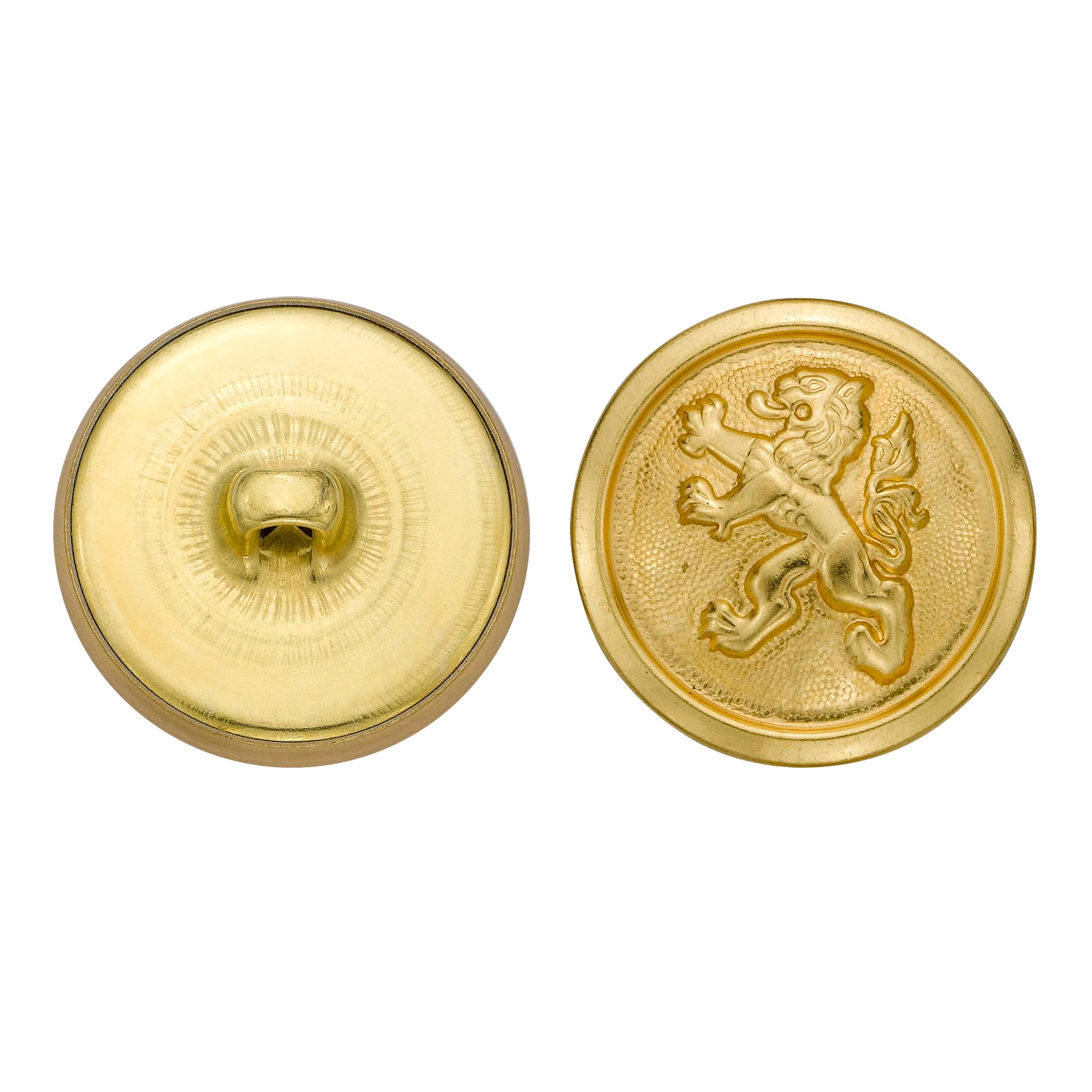 C&C Metal Products 5280 Chinese Lion Metal Button, Size 36 Ligne, Gold, 36-Pack