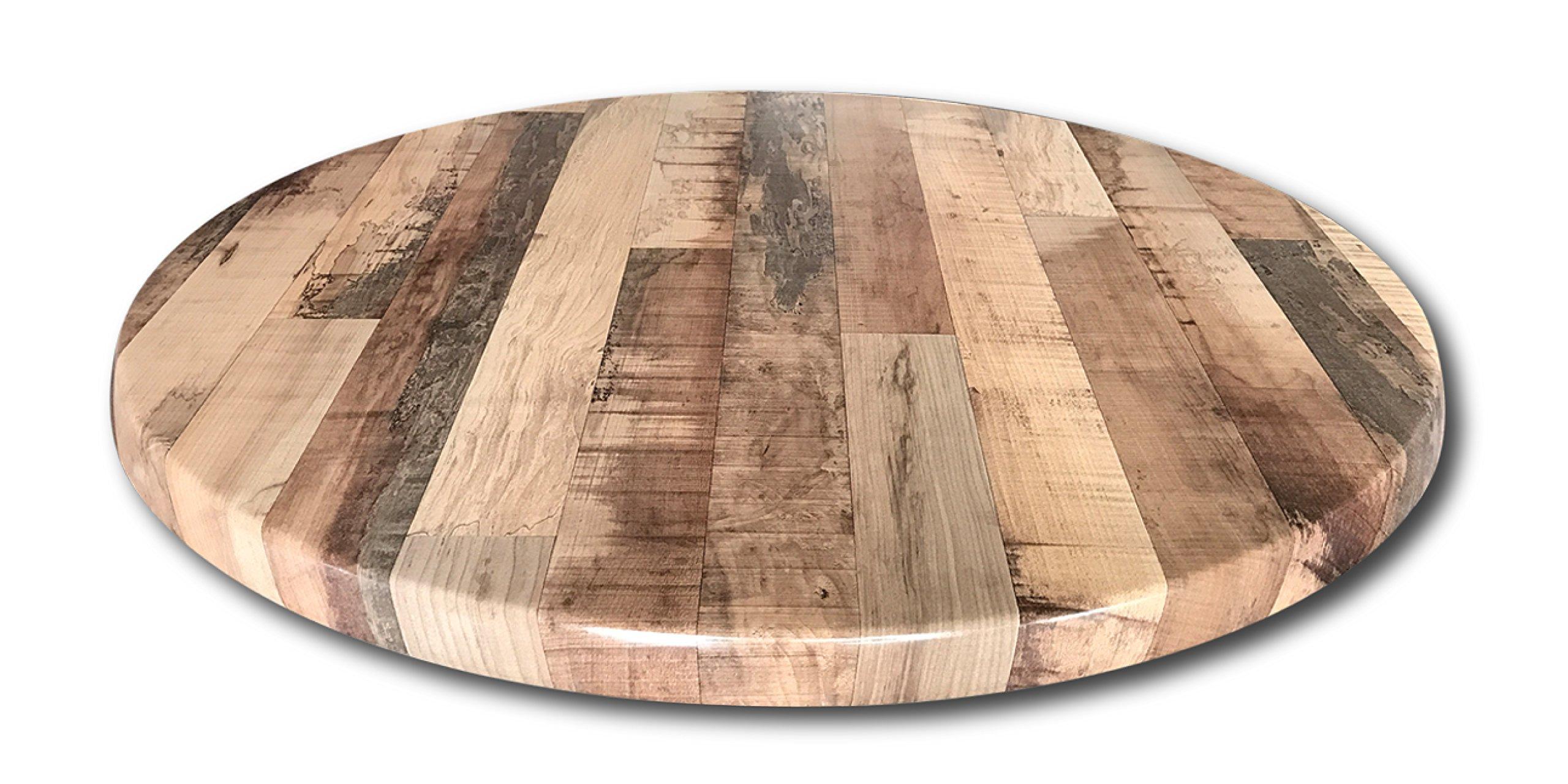 Enduro Top 36'' Diameter Rustic Maple, Indoor/Outdoor Table Top