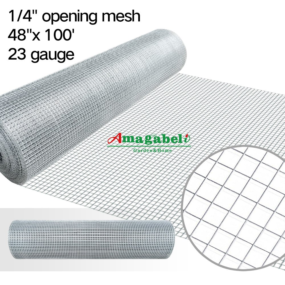 Amazon.com: 48x100 Hardware Cloth 1/4 Inch Galvanized Welded Cage ...