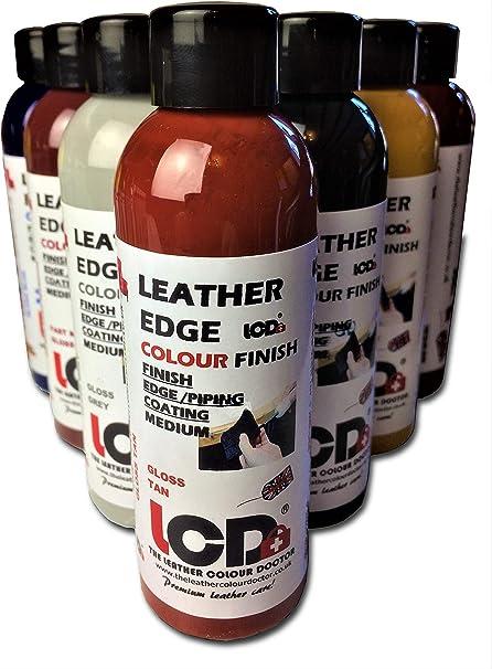 Acabado de pintura de borde de cuero, tinte de piel, colorante para manualidades, acabado de capa de borde, 100 ml (rojo tostado)