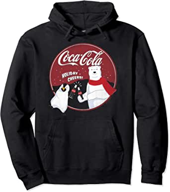 Coca Cola Polar Bear Mens Graphic Lightweight Hoodie