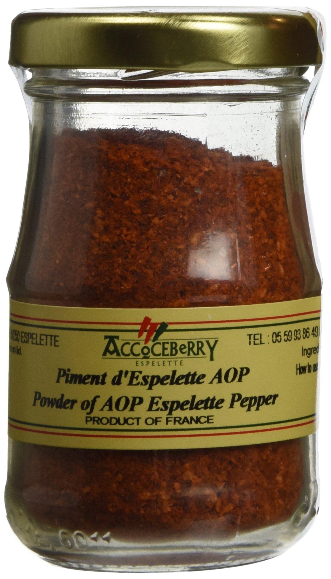 Accoceberry Espelette Pepper powder from France 1.6oz 45g