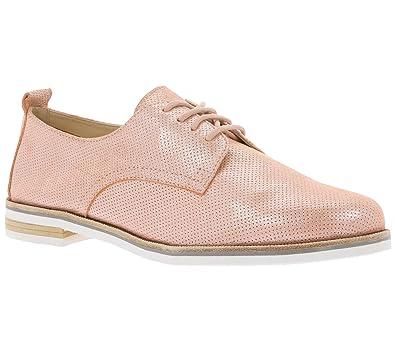 CAPRICE Schuhe Echtleder Halbschuhe Damen Schnürschuhe Apricot