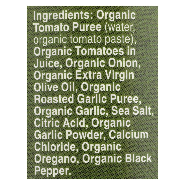 Organic Fat Free Roasted Garlic Pasta Sauce 25.50 Ounces (Case of 12)