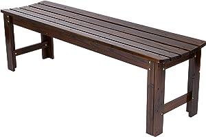 Shine Company Inc. 4205BB Backless Garden Bench, 5 Ft, Burnt Brown