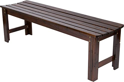 Shine Company Inc. 4205BB Backless Garden Bench, 5 Ft, Burnt Brown