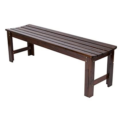 Amazon Com Shine Company Inc 4205bb Backless Garden Bench 5 Ft