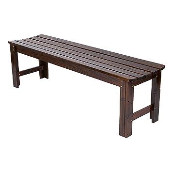 Amazon Com Shine Company Inc 4205bb Backless Garden Bench 5 Ft Burnt Brown Outdoor Benches Garden Outdoor