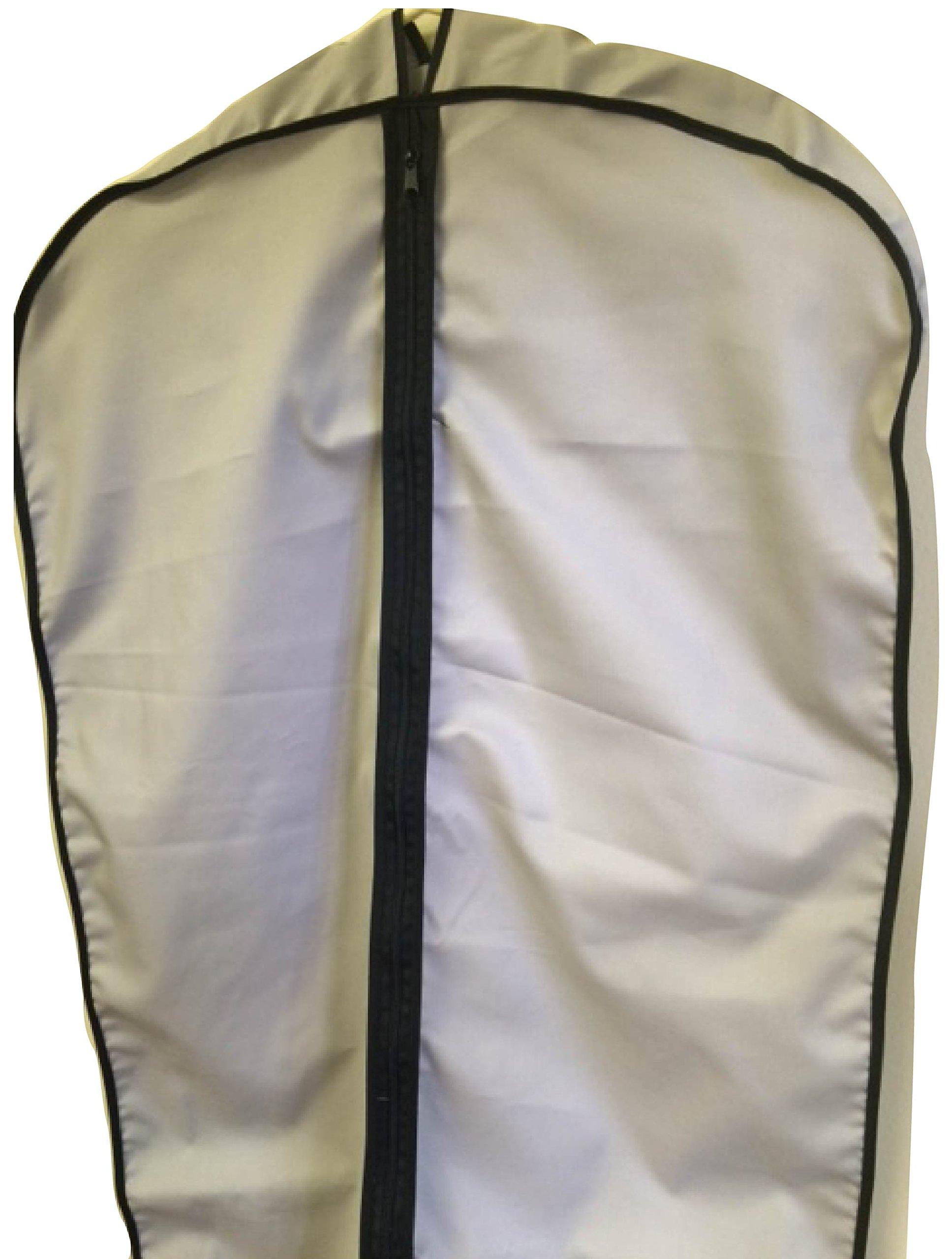 TUVAINC Fabric Garment Bag, Grey Cotton, 45''