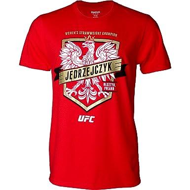 Reebok UFC Joanna JEDRZEJCZYK águila escudo camiseta, Rojo: Amazon.es: Deportes y aire libre