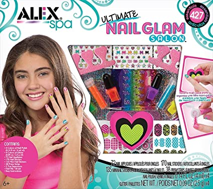 bc52ad342 Buy UBO ALEX Spa Ultimate Nail Glam Salon Kit, USA Online at Low Prices in  India - Amazon.in