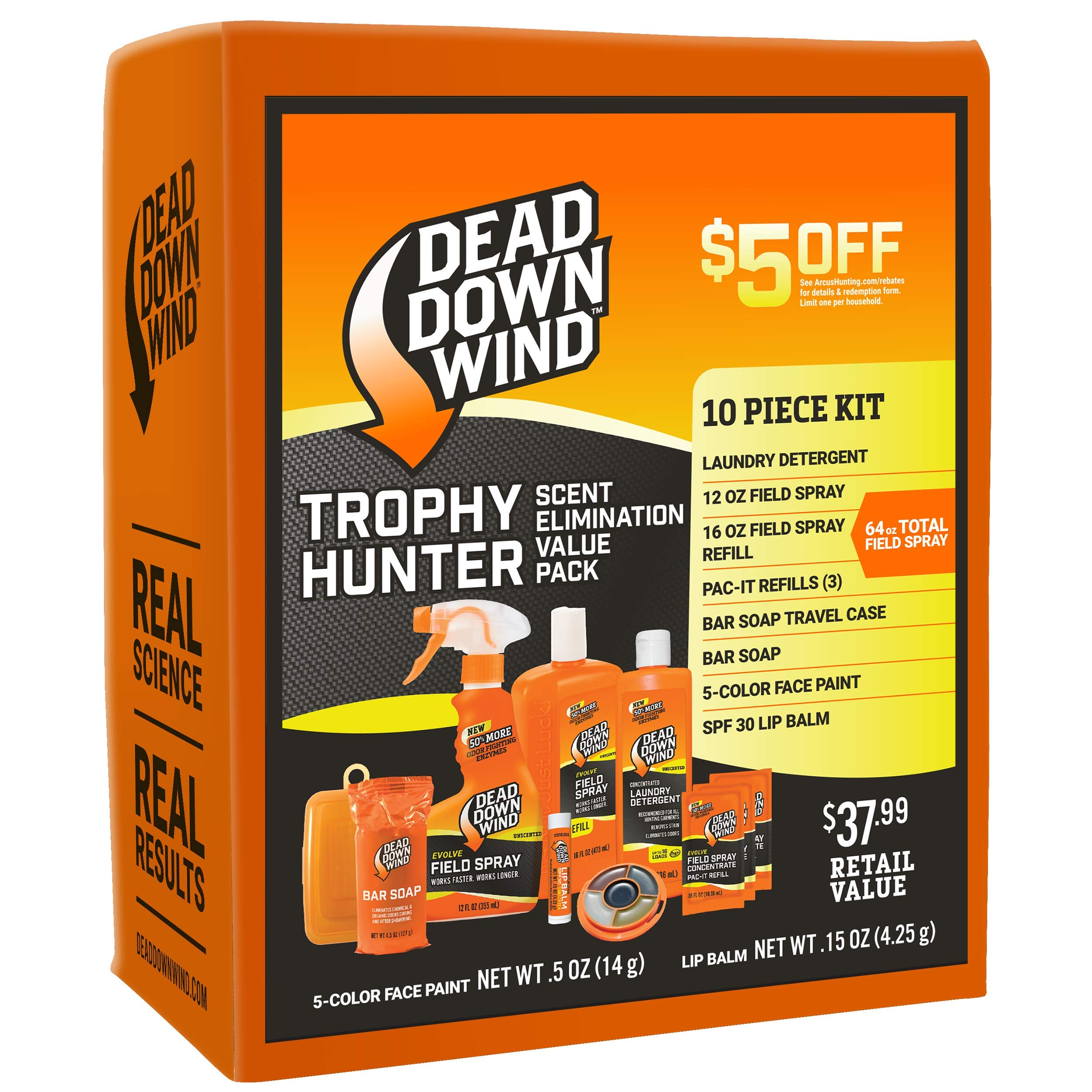 Dead Down Wind Trophy Hunter Kit - Scent Elimination for Hunting Gear, 10 Piece Value Pack by Dead Down Wind (Image #1)