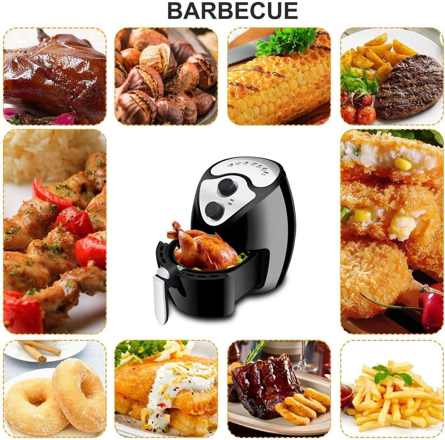 Sinbide Freidora de Aire Caliente Sin Aceite, Sistema Robot Cocina, 1230W, 2, 6L, Negro: Amazon.es