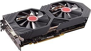 XFX Radeon RX 580 GTS Black Edition 1425MHz OC+, 8GB GDDR5, VR Ready, Dual BIOS, 3xDP HDMI DVI, AMD Graphics Card (RX-580P8DBD6)