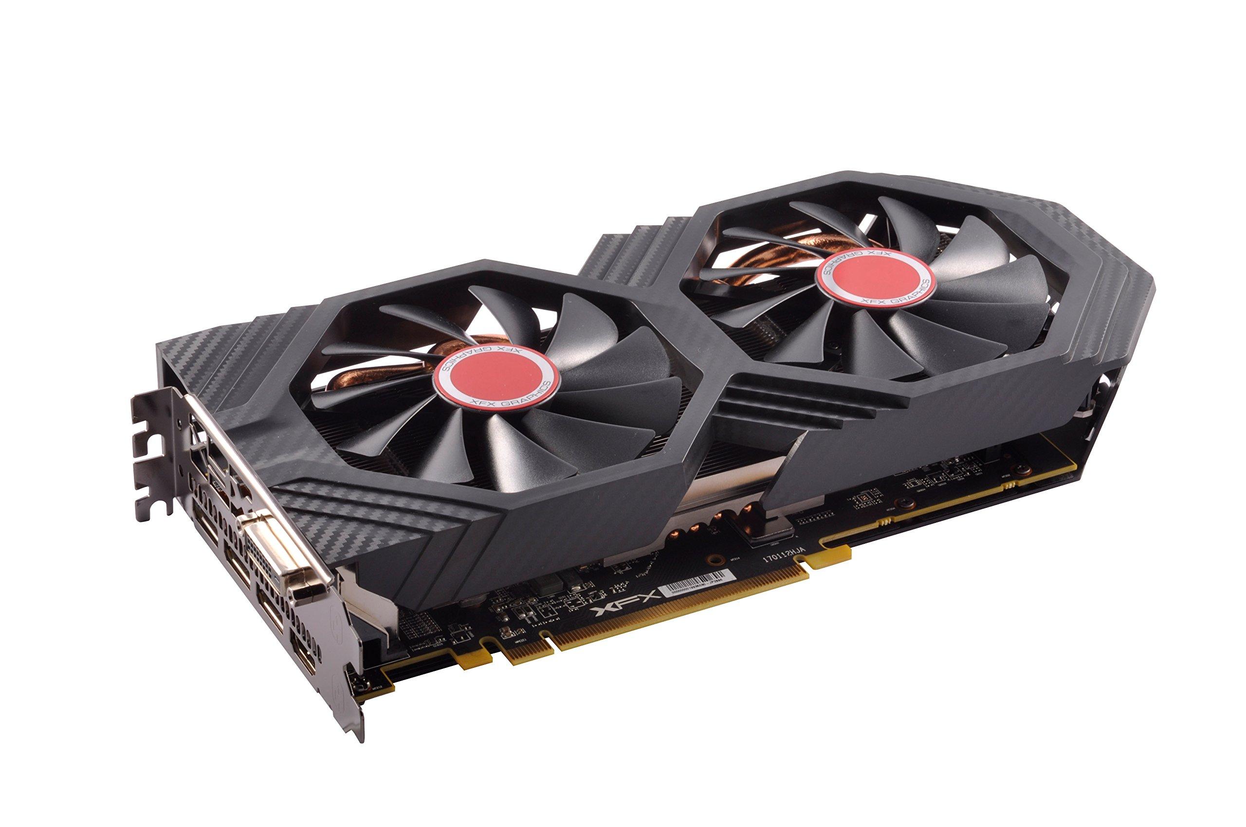 XFX Radeon RX 580 GTS XXX Edition 1386MHz OC+, 8GB GDDR5, VR Ready, Dual BIOS, 3xDP HDMI DVI, AMD Graphics Card (RX-580P8DFD6) by XFX