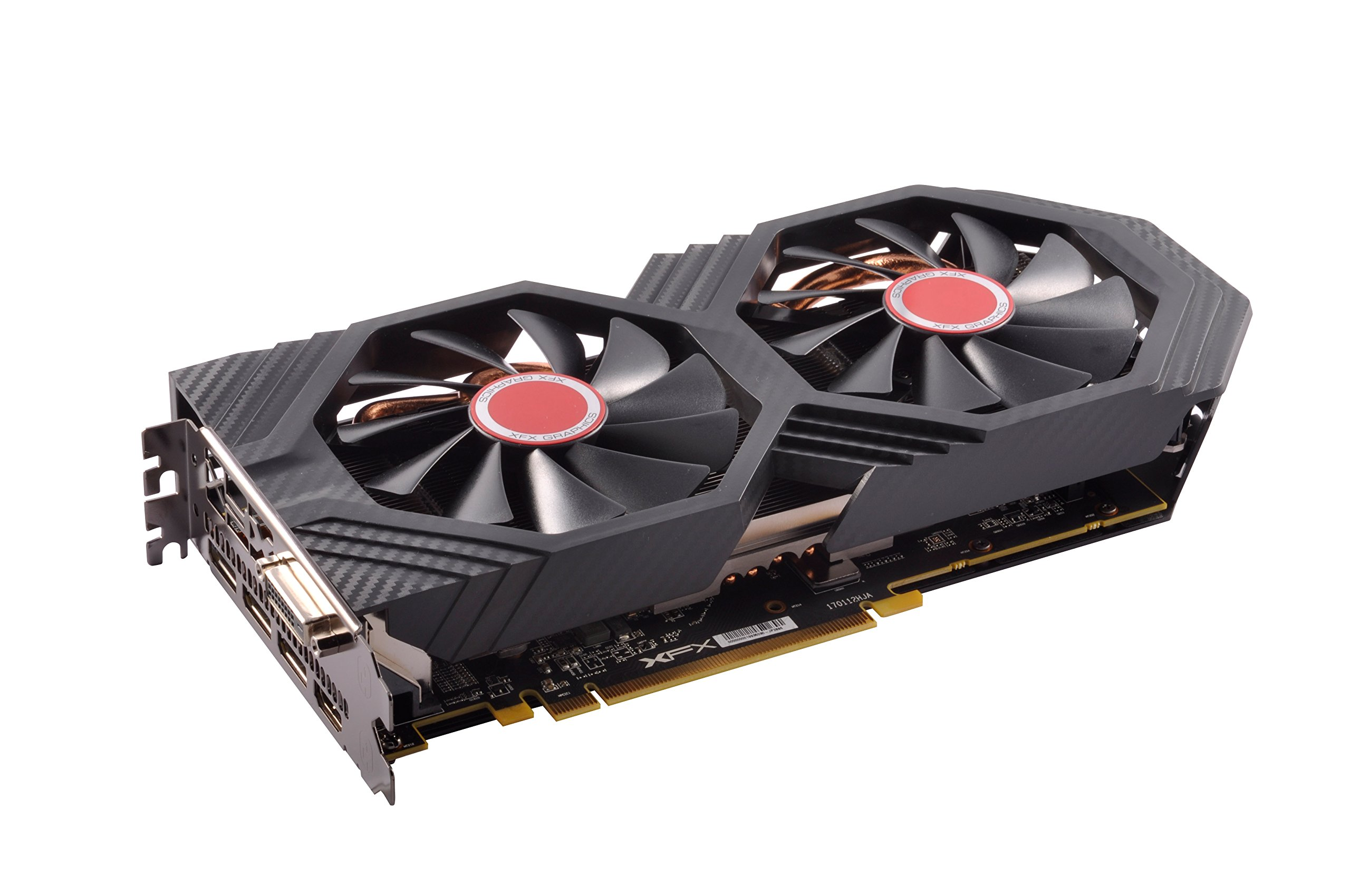 XFX GTS XXX Edition RX 580 8GB OC+ 1386Mhz DDR5 3xDP HDMI DVI Graphic Cards RX-580P8DFD6 by XFX