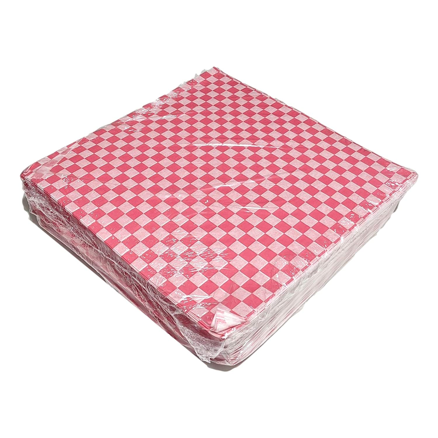 Paterson Paper Sandwich Food Wrapping Paper Deli Sheet Squares (Red Checkers, 12