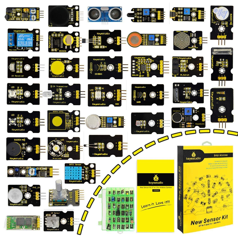 Keyestudio 37 En 1 Pack De Kit De Módulos Sensores Con Tutorial Gratis En Pdf Para Arduino Project Mega Uno Nano Sensor Sensores Kit Raspberry