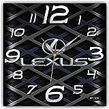 Lexus (car) 11 インチウォールクロック(レクサス)友達へのプレゼントに最適。あなたの家のためのオリジナルデザイン