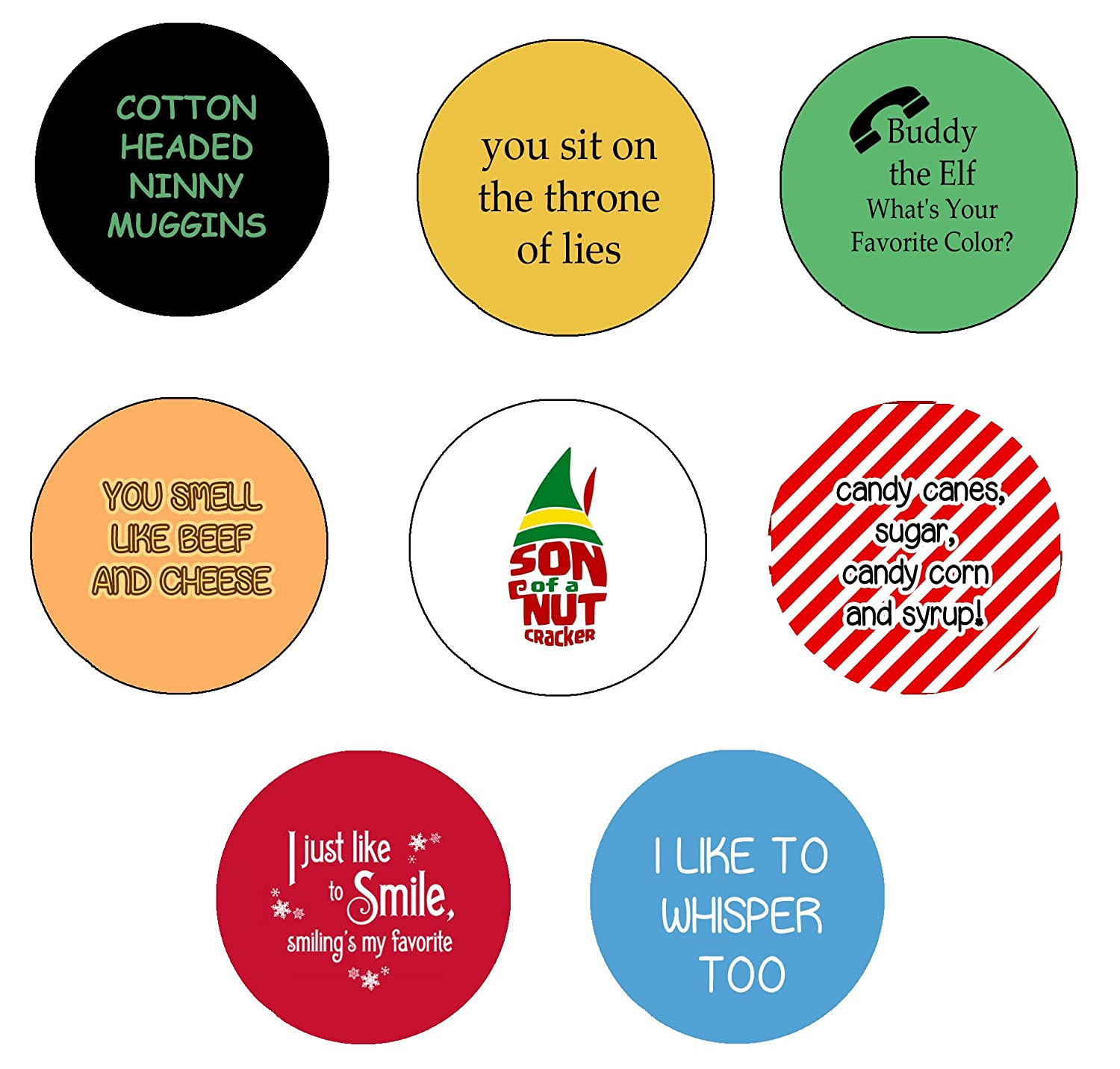 Amazon.com: Buddy the Elf Quotes Pinback Button Pin 1.25 ...