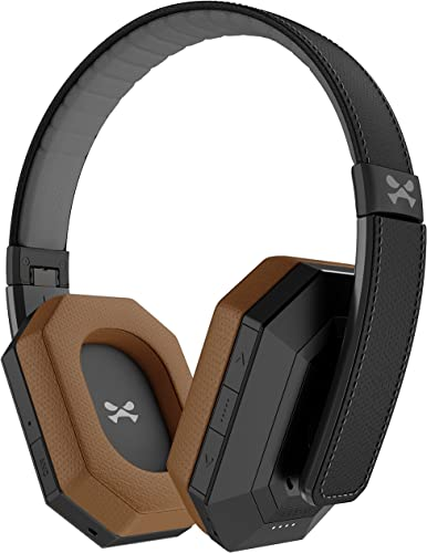 Ghostek soDrop Pro Wireless Over Ear Headphones with Active Noise Cancelling – Black Brown