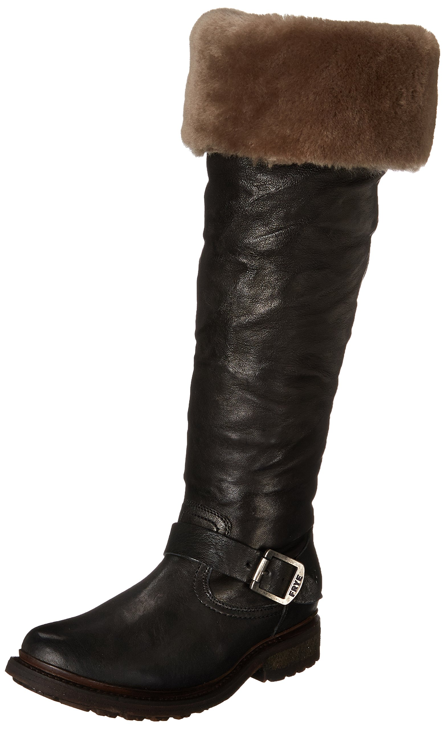 FRYE Women's Valerie Sherling Over The Knee Riding Boot, Black, 7.5 M US