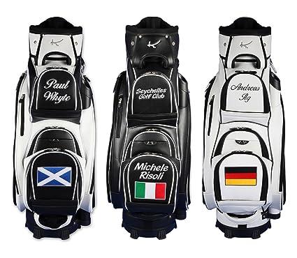 "Personalizada: Bolsa de golf de carro 9.5"" MADEIRA ""nombre/bandera"" 3 colores"