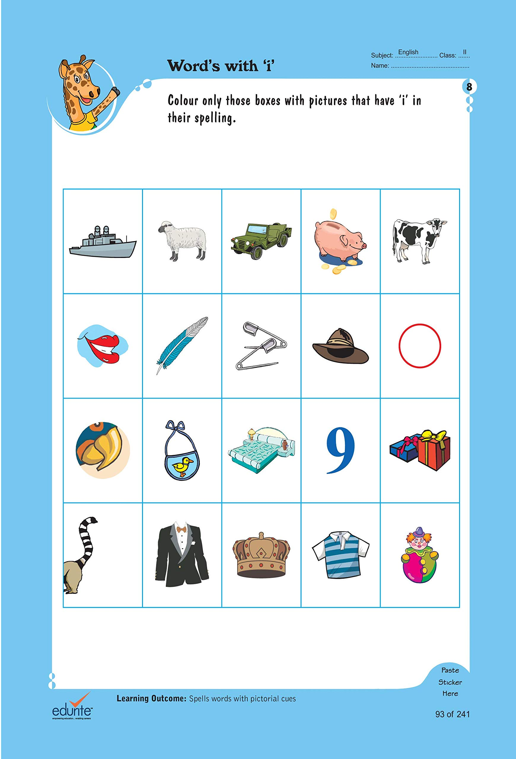 Buy Edurite's Worksheets of English for Class 2 Book Online ...